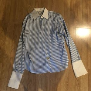 Brooks Brothers Blue & White Striped Button Down
